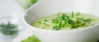 """Крем-суп зі шпинатом, авокадо і цукіні """"Пряний"""""""