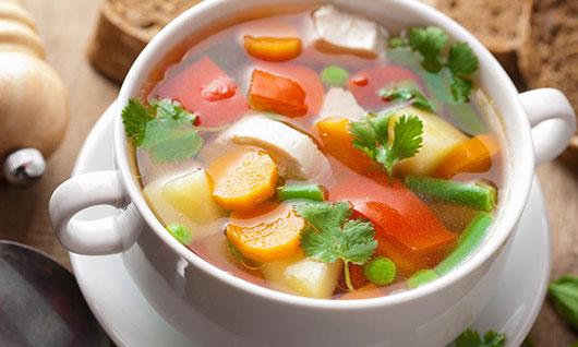 Овочевий суп з грибами