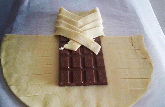 Шоколад в листковому тісті