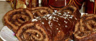 Шоколадний рулет з лісовим горіхом