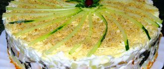 Закусочний торт з печінкою