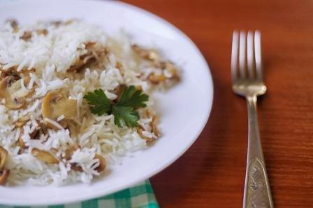 Рис з грибами