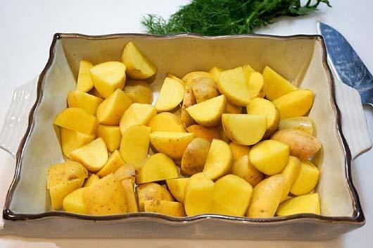 Картопля з грибами в духовці