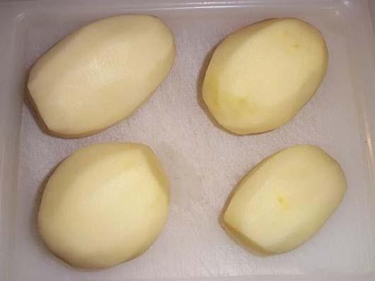 Картопля гармошка з беконом і розмарином
